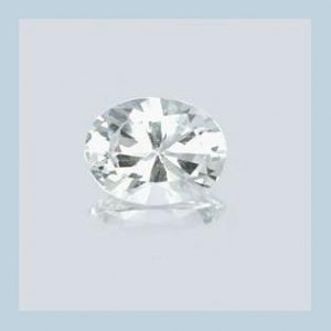 WHITE TOPAZ 1.50ct Oval Cut 7x5mm Faceted Natural Loose Gemstone