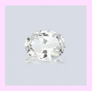 WHITE TOPAZ 2.00ct Oval Cut 8x6mm Faceted Natural Loose Gemstone