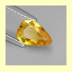 CITRINE 1.35ct Pear Cut 10x6mm Yellow Faceted Natural Loose Gemstone