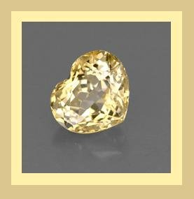 GOLDEN YELLOW BERYL 0.86ct Heart 6x6mm Faceted Natural Loose Gemstone