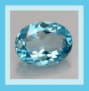 LONDON BLUE TOPAZ 0.82ct Oval 6x3mm Faceted Natural Loose Gemstone