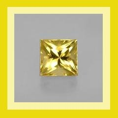 CITRINE 0.52ct Square Princess Cut 4x4mm Yellow Faceted Natural Loose Gemstone