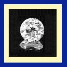 WHITE ZIRCON 0.41ct Round Cut 4mm Faceted Natural Loose Gemstone