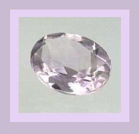 AMETHYST 0.53ct Oval 6x3mm Lavender Faceted Natural Loose Gemstone
