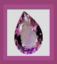 AMETHYST 0.64ct Pear 8x4mm Violet Purple Faceted Natural Loose Gemstone