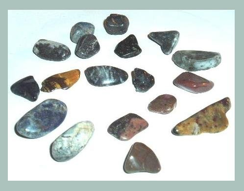 Lot of 18 Large JASPER AGATE Tumbled Polished Natural Loose Stones