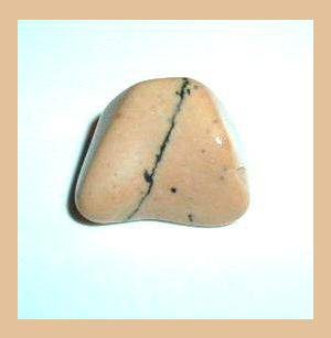 9.39ct CREAM & BLACK JASPER Tumbled and Polished Natural Loose Gemstone