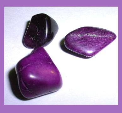 34.43ctw Lot of 3 Dark Purple AGATES Tumbled and Polished Natural Loose Gemstones
