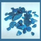 12.89ctw Lot of Mini BLUE Dyed Tumbled and Polished Stones