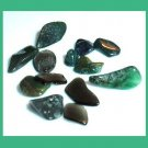 6.23ctw Lot of Mini GREEN Dyed Tumbled and Polished Stones