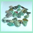 16.42ctw Lot of Mini GREEN Dyed Tumbled and Polished Stones