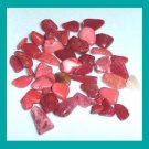 20.89ctw Lot of Mini RED Dyed Tumbled and Polished Stones