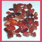 27.47ctw Mixed Lot of Mini RED Dyed Tumbled and Polished Stones