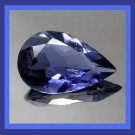 IOLITE 0.75ct Pear Cut 7x5mm Blue Faceted Natural Loose Gemstone