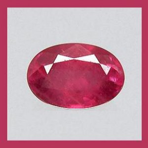 RUBY 0.77ct Oval Cut 6x4mm Faceted Natural Loose Gemstone