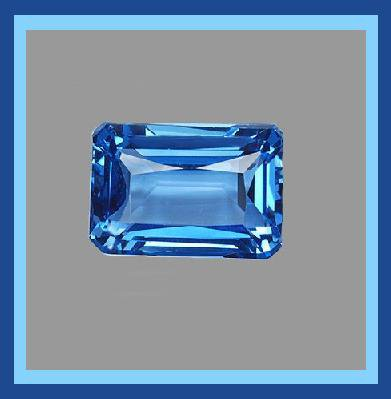 1.00ct LONDON BLUE TOPAZ 7x4mm Emerald Cut Faceted Natural Loose Gemstone
