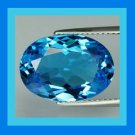 1.66ct LONDON BLUE TOPAZ Oval Cut 8x6mm Faceted Natural Loose Gemstone