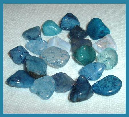 134.20ctw Mixed Lot of Blue Tumbled and Polished Gemstones