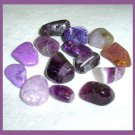 135.31ctw Mixed Lot of Purple Tumbled and Polished Gemstones