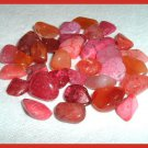 257.13ctw Mixed Lot of Red Tumbled and Polished Gemstones