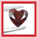 0.92ct Red Rhodolite GARNET Heart Shape 6x6mm Faceted Natural Loose Gemstone