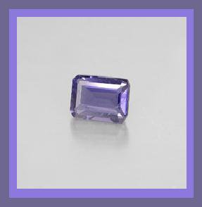 0.90ct IOLITE 7x5mm Emerald Cut Faceted Natural Loose Gemstone