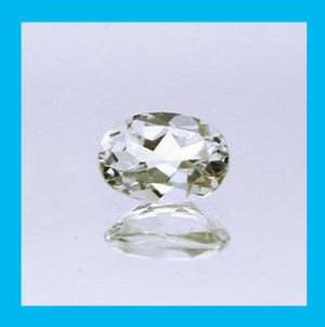 1.66ct WHITE TOPAZ Oval Cut 8x6mm Faceted Natural Loose Gemstone