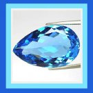 3.68ct LONDON BLUE TOPAZ Pear Cut 12x8mm Faceted Natural Loose Gemstone