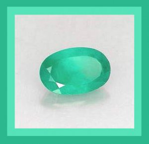 0.79ct Green EMERALD Oval Cut 7x5mm Faceted Natural Loose Gemstone