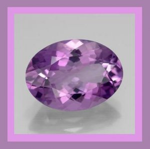 1.16ct Purple AMETHYST Oval Cut 8x6mm Faceted Natural Loose Gemstone