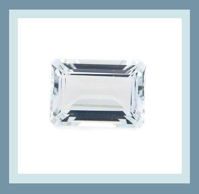 1.68ct SKY BLUE TOPAZ Emerald Cut 9x7mm Faceted Natural Loose Gemstone