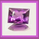 0.77ct Grape Purple AMETHYST Rectangle Baguette Cut 7x4mm Faceted Natural Loose Gemstone