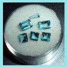 2.09ctw Lot of 6 SWISS BLUE TOPAZ Mixed Shapes Faceted Natural Loose Gemstones