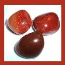 Lot of 3 Brown Orange CARNELIAN Tumbled and Polished Natural Loose Gemstones