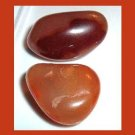 Lot of 2 Light Brown Orange CARNELIAN Tumbled and Polished Natural Loose Gemstones