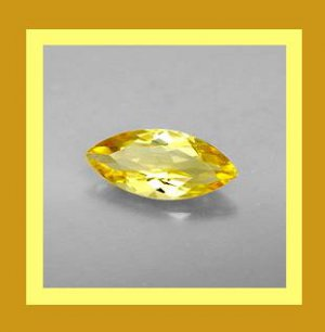 0.55ct Yellow CITRINE Marquise Cut 7x4mm Faceted Natural Loose Gemstone