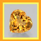0.55ct Yellow Orange CITRINE Heart Shaped 4x4mm Faceted Natural Loose Gemstone