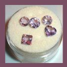 2.40ctw Lot of 5 Grape Violet Purple AMETHYST Mixed Faceted Natural Loose Gemstones