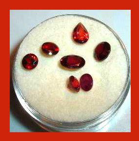 3.25ctw Lot of 7 Red GARNET Oval Pear Round Cut Faceted Natural Loose Gemstones