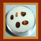 1.35ctw Lot of 5 Brown IMPERIAL TOPAZ Heart Oval Fancy Cut Faceted Natural Loose Gemstones