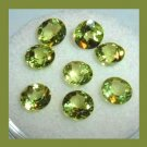 4.35ctw Lot of 8 Green PERIDOT Round Cut 5mm Faceted Natural Loose Gemstones