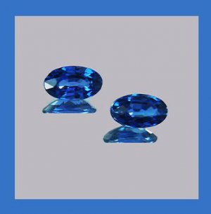 0.70ctw Pair of 2 Natural Royal Blue SAPPHIRE Oval Cut 4x2mm Faceted Loose Gemstones