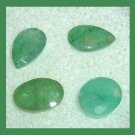 1.70ctw Lot of 4 EMERALD Pear and Oval Cut Faceted Natural Loose Gemstones