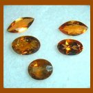 1.30ctw Lot of 5 Brown IMPERIAL TOPAZ Marquise and Oval Faceted Natural Loose Gemstones