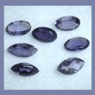 1.30ctw Lot of 7 TANZANITE Marquise and Oval Cut Faceted Natural Loose Gemstones