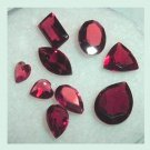 2.77ctw Lot of 9 Red GARNET Pear Trillion Marquise Baguette Heart Oval Natural Loose Gemstones