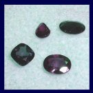 1.00ctw Lot of 4 Natural Blue SAPPHIRE Oval Cushion Square Pear Faceted Loose Gemstones