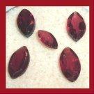 3.30ctw Lot of 5 Red GARNET Marquise Cut Natural Loose Gemstones