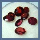3.80ctw Lot of 8 Red GARNET Oval Cut Natural Loose Gemstones