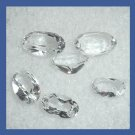 1.80ctw Lot of 6 WHITE TOPAZ Oval Cut Faceted Natural Loose Gemstones